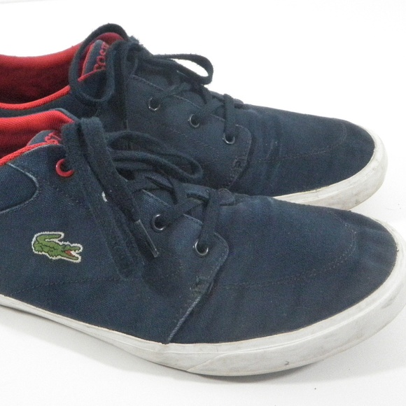 9c3c5c08fc3a Lacoste Other - Lacoste Canvas Sneakers Bayliss Navy Mens 11.5